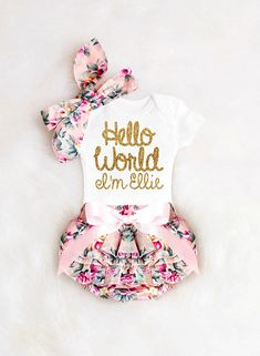 adb43579ab06 How gorgeous will her name look in on this darling little outfit ! ALWAYS  the