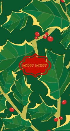 Merry merry. iPhone wallpaper by AV.  Made with @monogramapp