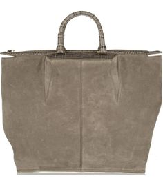 Suede and croc-effect leather tote  by Alexander Wang #matchesfashion