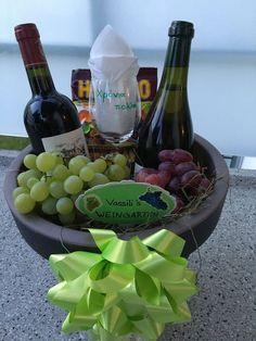 Weingarten: vin, raisins, verre à vin, gomme à vin - Hochzeitsgeschenk Wine Glass Candle Holder, Wine Glass Holder, Wine Glass Set, Grape Vineyard, Cat Wine, Glitter Wine, Christmas Gifts For Her, Making Ideas, Gift Boxes