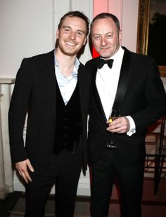 Michael and Liam Cunningham looking very spiffy.