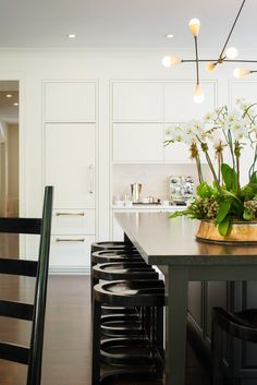 modern black white kitchen design bethesda md marble counters