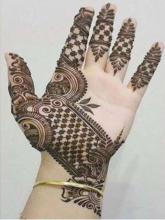 Mehndi designs need to be complex and intricate