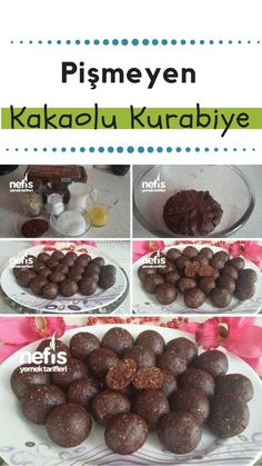 Pişmeyen Kakaolu Kurabiye Tarifi – Nefis Yemek Tarifleri How to make Uncooked Cocoa Cookies Recipe? Here is a picture description of this recipe in the book of people and photographs of the experimenters. Delicious Cookie Recipes, Great Recipes, Cake Recipes, Dessert Recipes, Yummy Food, Simple Recipes, Chocolate Desserts, Oreo Desserts, Dessert Illustration