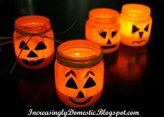 Halloween votives, perfect to light up trick-or-treating