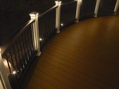 With AZEK Lighting, spending time on the deck can last all night.These LED lights install easily with AZEK Railing systems. Deck and Railing lights. Solar Deck Lights, Deck Lighting, Lighting Ideas, Gallery Lighting, Backyard Lighting, Patio Steps, Backyard Retreat, Backyard Patio, Deck Builders