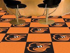 "MLB - Baltimore Orioles Team Carpet Tiles 18"""" X 18"""" Tiles"