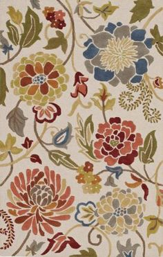 Dalyn Ambiance AB150 Beige Rug | Country & Floral Rugs