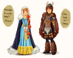 Merida x Hiccup's wedding outfits