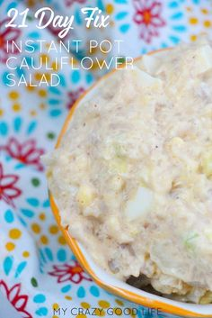 This Instant Pot cauliflower salad is a healthy and easy BBQ recipe! This mock potato salad with cauliflower is a healthy side dish!#instantpot #cauliflowersalad #pressurecooking #recipes #sidedish #tasty #BBQ #healthyrecipes Easy Bbq Recipes, Instant Pot Dinner Recipes, Healthy Dinner Recipes, Barbecue Recipes, Crockpot Recipes, Healthy Food, 21 Day Fix Meal Plan, Filling Food, Cauliflower Salad