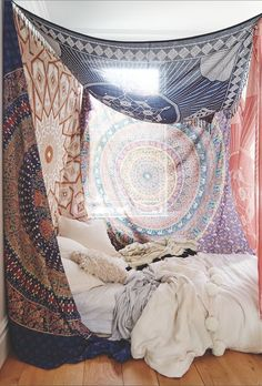 Bedroom boho, bohemian bedroom diy, bohemian fabric, boho room, boho be Dream Rooms, Dream Bedroom, Home Bedroom, Bedroom Decor, Bedroom Ideas, Decor Room, Bedroom Inspiration, Master Bedroom, My New Room