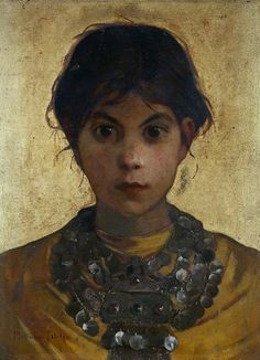 A Capri Witch, Marianne Stokes c. 1884