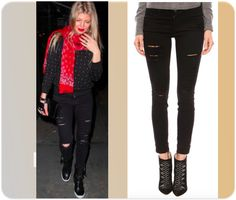Skinny jeans for women as worn by celebrities, under $200