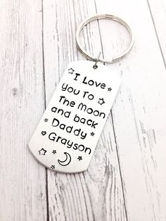 fathers day gifts for dad gifts for dad i love you by MommysMetalz