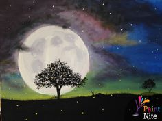 """Mystic Moon"" created for Paint Nite by Lisa Salem"