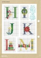 Gallery.ru / Фото #50 - Cross Stitcher 311 - WhiteAngel Christmas Cross Stitch Alphabet, Monogram Cross Stitch, Cross Stitch Alphabet Patterns, Cross Stitch Christmas Ornaments, Xmas Cross Stitch, Cross Stitching, Stitch Patterns, Alphabet And Numbers, Xmas Decorations