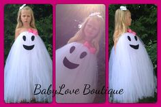 Halloween/Fall:  Girly Ghost Halloween Costume by BabyLove777Boutique on Etsy, $40.00