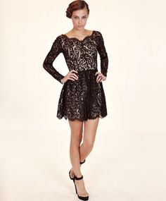 Black Millie Lace Dress