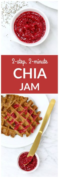 2-Step Chia Seed Jam - so easy to make! A delicious, healthy Mother's Day recipe. #brunch #healthybreakfast #vegan