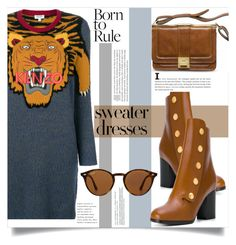 """""""Born to rule..."""" by puljarevic ❤ liked on Polyvore featuring Kenzo, Mulberry, Ray-Ban and sweaterdresses"""