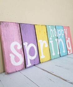 Happy Spring Rustic Pallet Sign