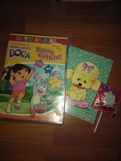 Dora dvd ja muumitikkari