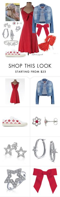"""""""Lynessa's Outfit for Day One of Regionals"""" by stephanie-jozwiak ❤ liked on Polyvore featuring Betsey Johnson, 7 For All Mankind, Yves Saint Laurent, Nina B, Bling Jewelry, Chassè and Decadence"""