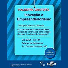 Hoje às 19h no SEBRAE Itaperuna-RJ palestra com o tema Inovação em Meio à Crise. Entrada Franca. Oportunidade para buscar novos caminhos e vencer os desafios que a economia do Brasil vive hoje.  #andrearaujo #andrearaujonet #compartilhamento #conhecimento #consultoria #convergencia #ecommerce #educação #empreendedor #empreendedorismo #inboudmarketing #inovação #itaperuna #linux #marketingdigital #midiasocial #resultados #softwarelivre #sucesso #web #sebrae by sejadigitall
