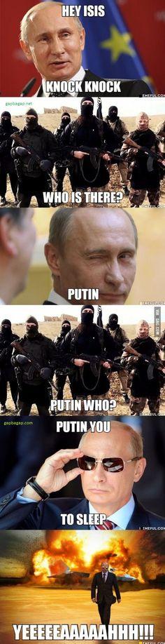 Funny Jokes About Vladimir Putin vs. Terrorists