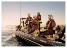 "#AdoftheWeek 8 May 2014: Rescue me. Ogilvy Cape Town's print campaign for NSRI: ""Anyone can save a life"". Grandmother."