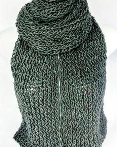 Blue grey knit scarf, extra long scarf,  recycled yarn scarf, oversized scarf, light weight scarf, bohemian scarf, summer scarves, eco scarf