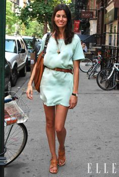 simple dress and sandals