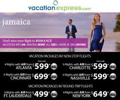 Jamaica Deals with Air from Many U.S. Cities... www.ironshoretravel.paycation.com