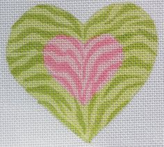 Double Zebra Mini Heart by Kate Dickerson Size: x Mesh Count: 18 Cross Stitching, Cross Stitch Embroidery, Cross Stitch Patterns, Cross Stitch Heart, Cross Stitch Animals, Needlepoint Kits, Needlepoint Canvases, Rainbow Zebra, Knitted Heart