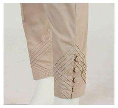 Salwar Pants, Kurta With Pants, Trouser Pants, Trousers Women, Pants For Women, Capri Trousers, Salwar Dress, Kurti Sleeves Design, Kurta Neck Design