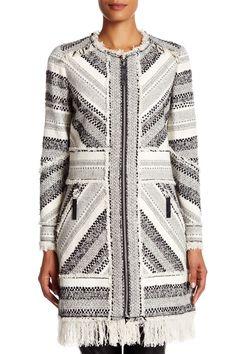 Artisan Genuine Leather Trimmed Tweed Coat by Rebecca Taylor on @nordstrom_rack