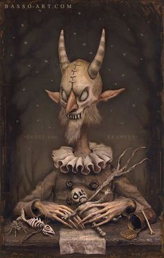 """""""krampus"""" - pre poster I have no idea what it is or what the preposter said, it is either what the monster is or the name a character."""
