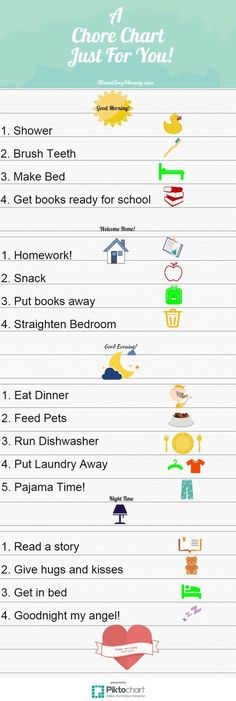 A chore chart just for you - AlmostSexyMommy.com A chore chart for young kids with ADHD, ADD, Aspergers, etc.