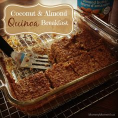 Coconut Almond Quinoa Breakfast Bake