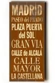 Madrid Transit Sign Wall Plaque - Unframed Art - Wall Decor - Home Decor | HomeDecorators.com