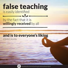 I would like to hear what others think about how to identify false teaching. What are your thoughts on this Lutheran ladies and readers? Do you agree with John Calvin that it's easy to identify? Please post and comment with your thoughts. Faith Quotes, Bible Quotes, Bible Verses, Biblical Quotes, John Calvin Quotes, 5 Solas, Protestant Reformation, Soli Deo Gloria, Reformed Theology