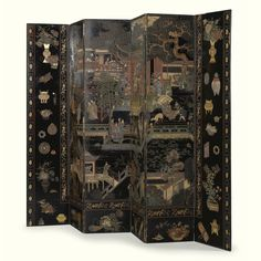 CHATSWORTH: THE ATTIC SALE A CHINESE COROMANDEL LACQUER SIX PANEL SCREEN KANGXI (1662-1721). Sotheby's