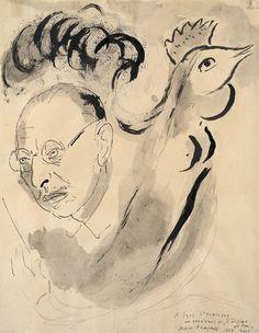 Marc Chagall(Bielorusian - French, 1887–1985) Stravinsky, N/D
