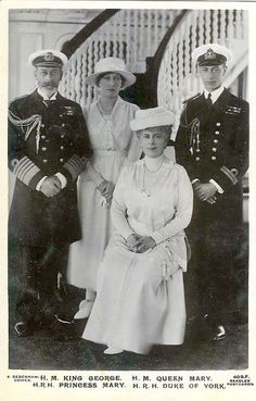 King George V. and Queen Mary of Britain with Princess Royal Mary and the Duke of York | Flickr - Photo Sharing!