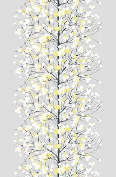 Marimekko 'Lumimarja' fabric wall art set in lime yellow, grey and white Fabric Wall Art, Pvc Fabric, Cotton Fabric, Curtain Fabric, Fabric Scraps, Hanging Wall Art, Diy Wall Art, Fabric Patterns, Print Patterns
