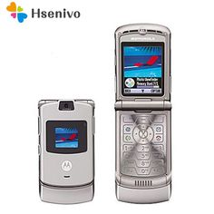 1a65508e5b4199 SG Post Free shipping Cheapest Unlocked quad band Razr V3 mobile phone with  russia keyboard on