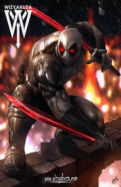 Deadpool X-Force (by Wizyakuza) Deadpool Y Spiderman, Deadpool Funny, Batman, Marvel Fan, Marvel Dc Comics, Marvel Heroes, Mundo Comic, Black Panther Marvel, Marvel Wallpaper