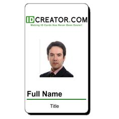 Online ID Badge maker and card printing service. Free templates ...