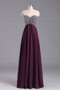 Sweetheart Floor-length Sleeveless Chiffon Amazing Prom Dress Bridesmaid Dress Evening Dress Part
