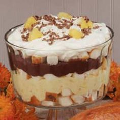 Chocolate Pineapple Trifle Recipe -We have this dessert every Christmas Day. Sometimes I'll serve individual helpings in stemmed goblets for an elegant holiday look. -Gloria Vrabel, Webster, Massachusetts